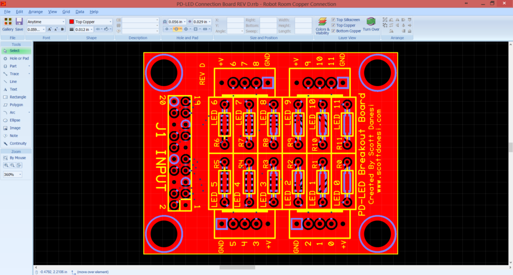 Custom PD-LED Breakout Board